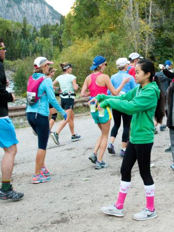 Long Distance Runners Endure Mountain Pass